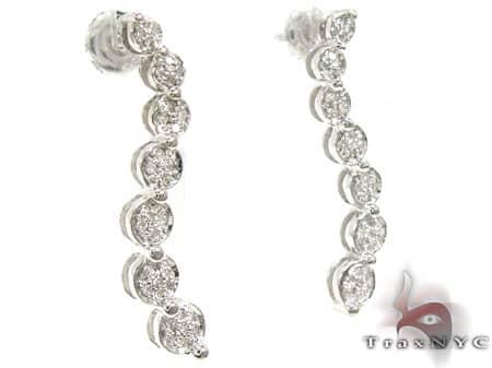 Diamond Trail Earrings Stone