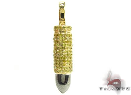 Yellow Gold Canary Bullet Pendant Metal