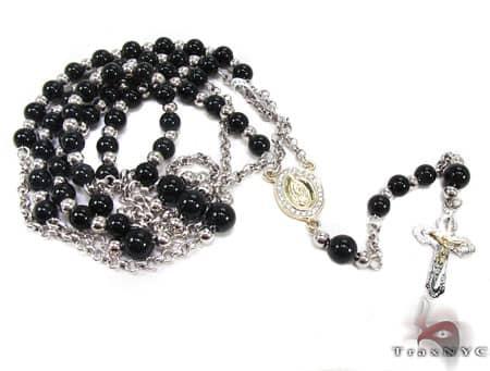 Diamond & Gold Rosary Chain and Cross Rosary