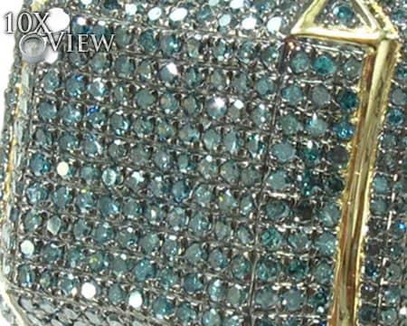 Blue Octagon Ring 2 Stone