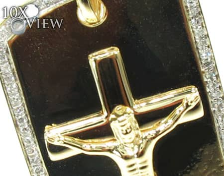 Diamond Jesus Dog Tag Metal