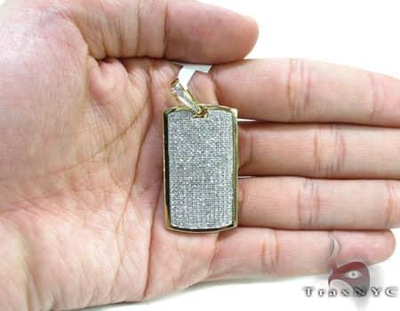 Medium Diamond Dog Tag Metal
