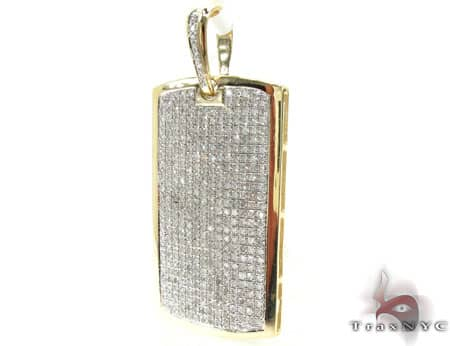 Medium Diamond Dog Tag Metal