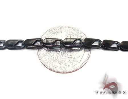 Black SS Linked Chain 30in, 4.5mm, 14.9 Grams Stainless Steel