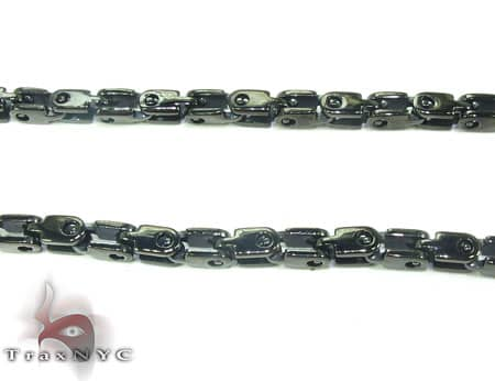 Black SS  Heavy Linked Chain 36in, 3.5mm, 40.3 Grams Stainless Steel