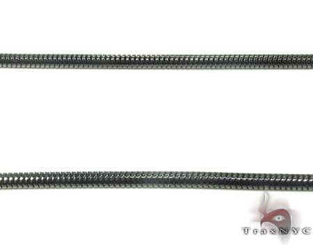 Black SS Snake Chain 36in, 3mm, 20.3 Grams Stainless Steel