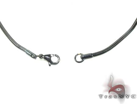 Black SS Snake Chain 30in, 3mm, 12.5 Grams Stainless Steel