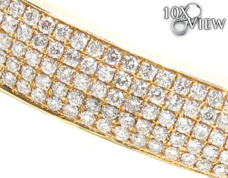White Gold 5 Row Icy Bangle Diamond