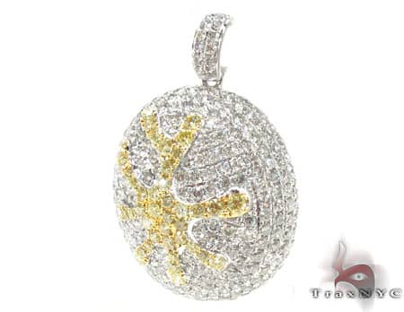 Canary Splatter Pendant Stone