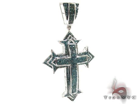 Blue Diamond Spartan Cross Diamond