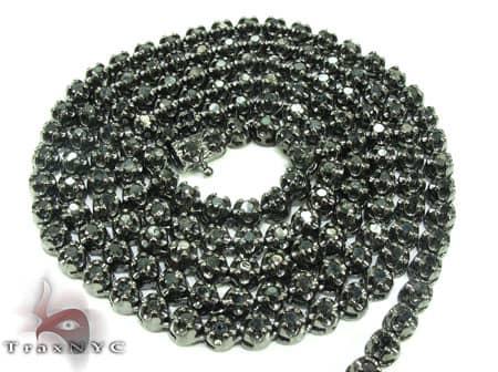 Black Diamond Chain 30 Inches, 4mm, 54 Grams Diamond