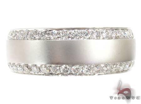 Diamond Ring Wedding Band Mens Style White Gold 14k