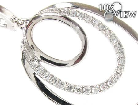 Infinite Circle Earrings Stone