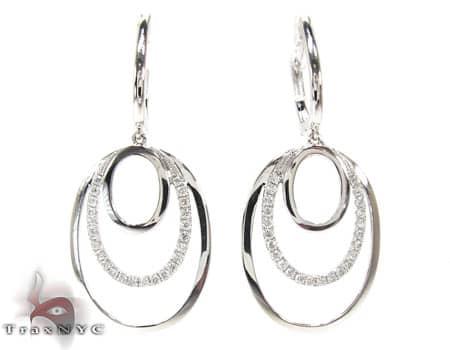 Infinite Circle Earrings Stone