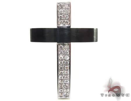 Blackjack Diamond Cross Mens Diamond Cross