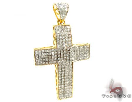 Yellow Gold Empire Cross Diamond
