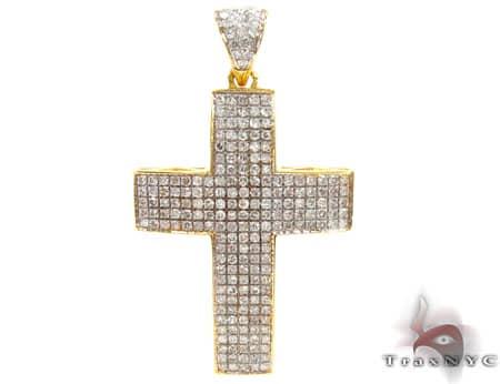 Yellow Gold Empire Cross Diamond