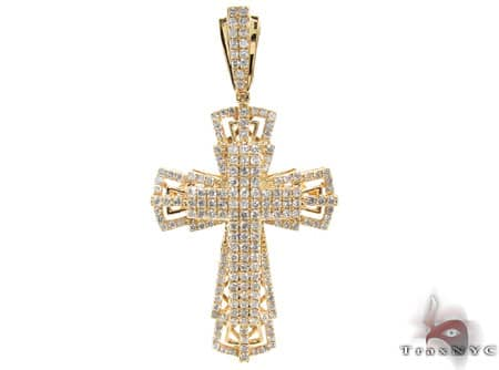 Yellow Gold Benny Cross Diamond