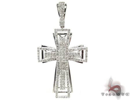 White Gold Benny Cross 2 Mens Diamond Cross