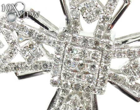 White Gold Fancy Cross Diamond