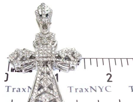White Gold Fancy Cross Diamond