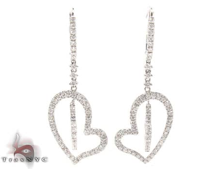 Double Heart Earrings Stone