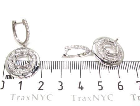 VS Saucer Semi Mount Earrings Stone