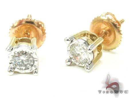 Half Carat Diamond Studs Stone