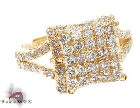 Yellow Gold Aruba Ring Womens Diamond Rings