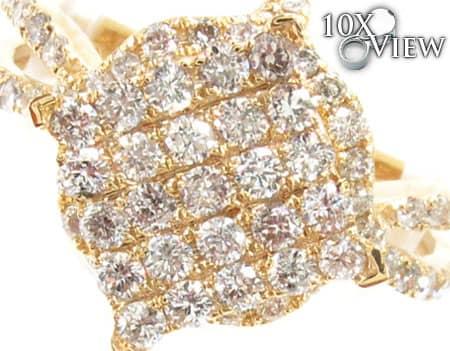 Yellow Gold Barbados Ring 1 Anniversary/Fashion