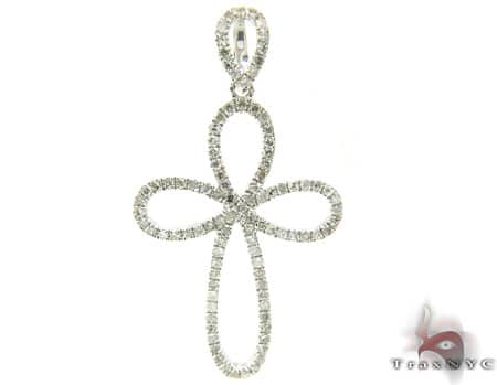 Sterling Silver & Diamond Delicate Cross Crucifix ダイヤモンド クロス