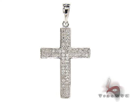 Sterling Silver and Diamond Cross 2 Diamond Cross Pendants