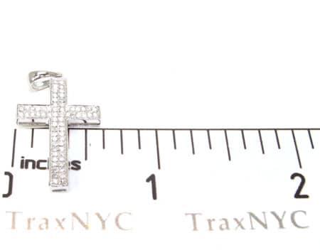 Sterling Silver and Diamond Cross 2 Diamond Cross Pendants