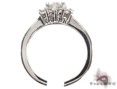 White Snowflake Ring Engagement
