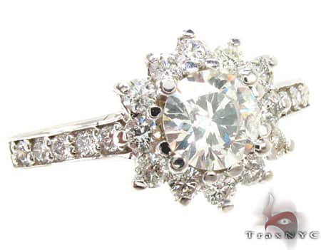 White Snowflake Ring Engagement