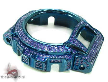 Blue and Purple CZ G-Shock Case G-Shock