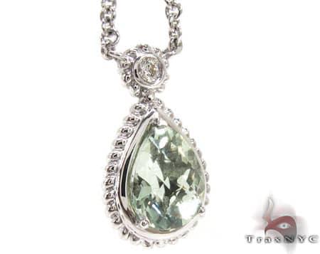 Green Quartz Diamond Necklace Stone