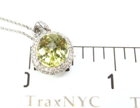 Lemon Quartz and Diamond Necklace Stone