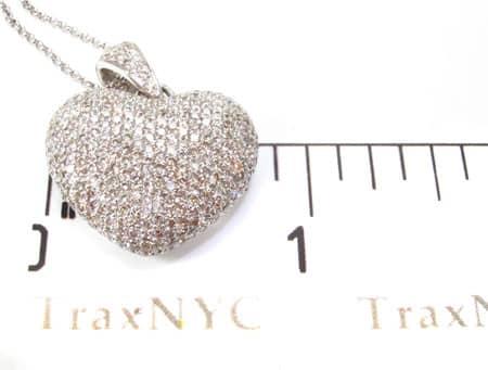 Bubble Heart Pendant & Chain Stone