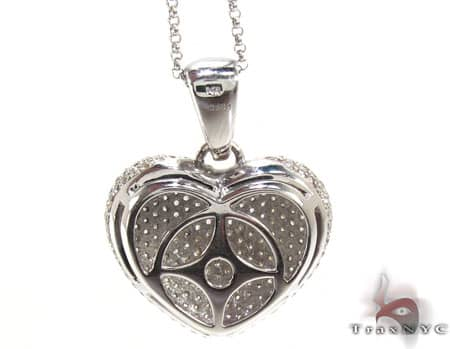 Bubble Heart Pendant & Chain Stone