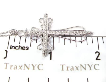 Ladies Cross Pendant & Chain Stone