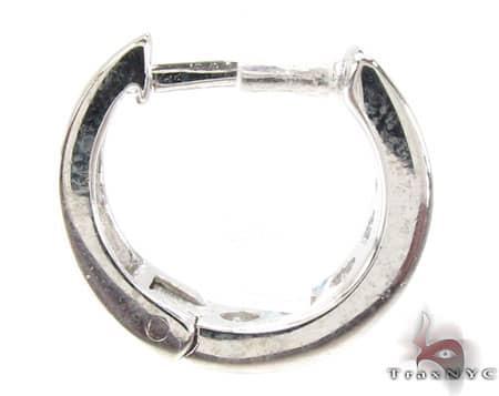 14mm Clear CZ Huggie Earrings Metal