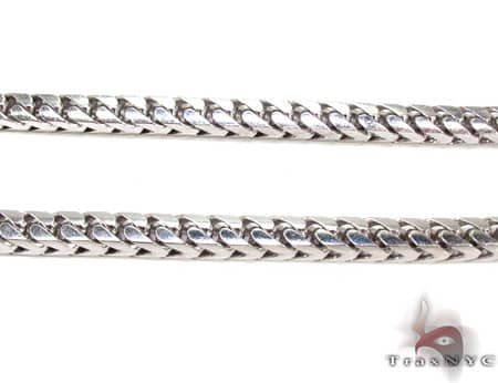 Solid Franco Chain 40 Inches, 7mm, 346.50 Grams Gold