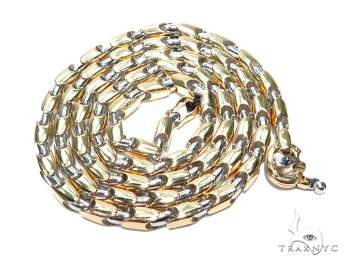 18K Gold Bullet Chain 26 Inches 5mm 44.5 Grams 41221 Gold