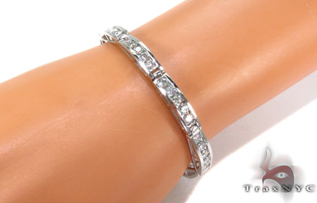 18K Gold Channel Diamond Bracelet 31286 Diamond