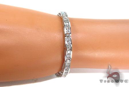 18K Gold Channel Diamond Bracelet 31286 Diamond