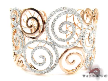 18K Gold Diamond Bangle Bracelet 25417 Diamond