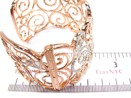 18K Gold Diamond Bangle Bracelet 25417 Diamond