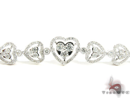 18K Gold Diamond Heart Bracelet 25429 Diamond