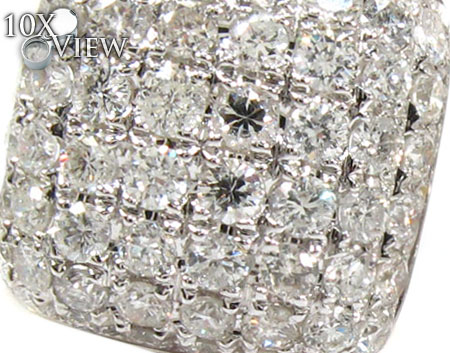 18K Gold Diamond Pillow Earrings 25603 Stone